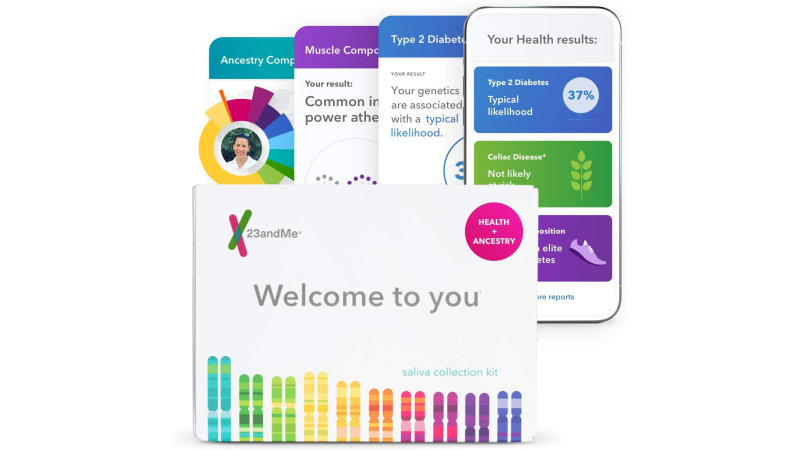 This 23andMe DNA testing kit is available for 50% off today only