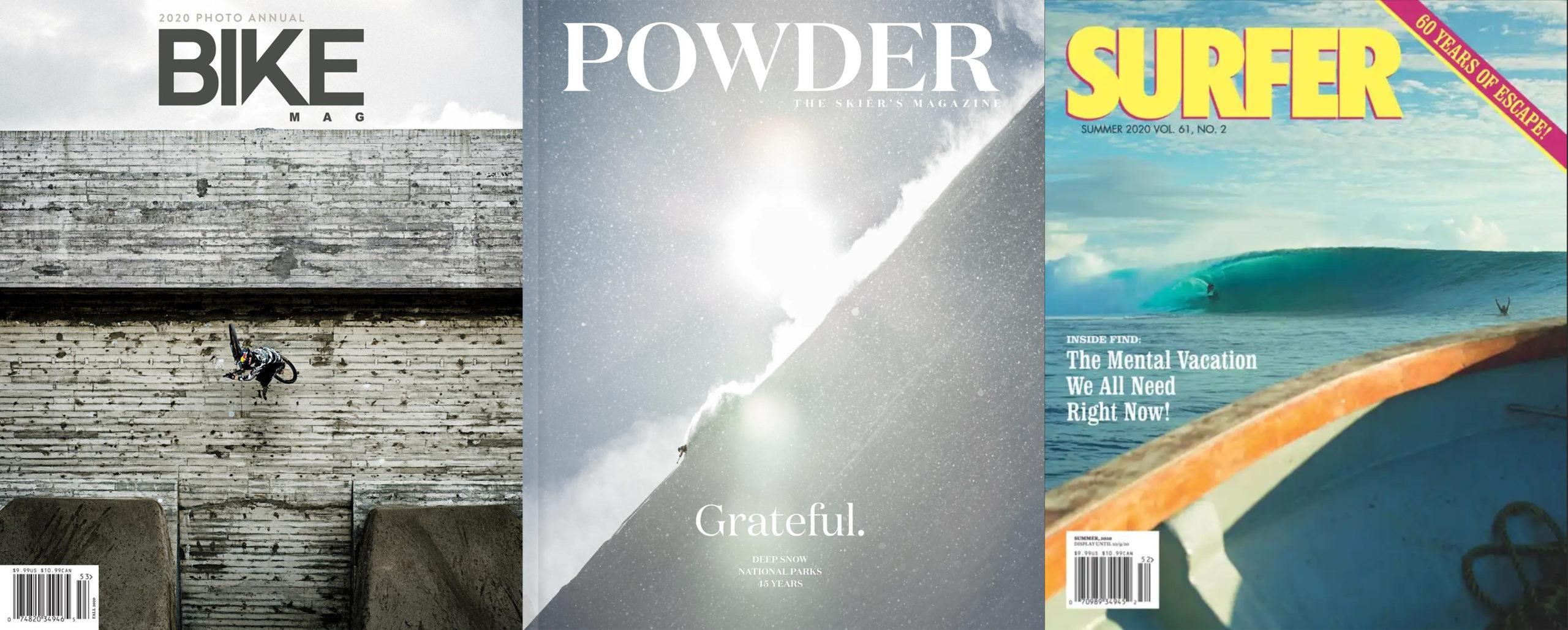 Bike, Powder, Snowboarder, and Surfer Magazines Shut Down