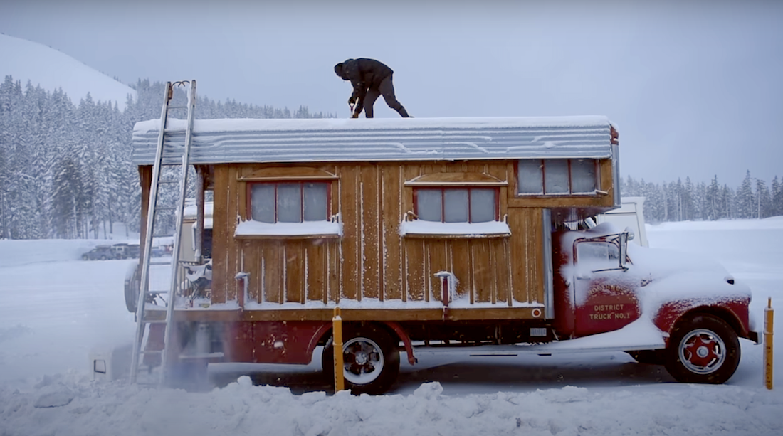 A Firetruck Turned Cabin Makes the Cozy Portable