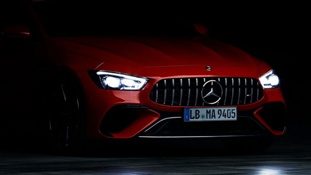 Mercedes-AMG's insanely powerful GT 4-Door hybrid noses into view