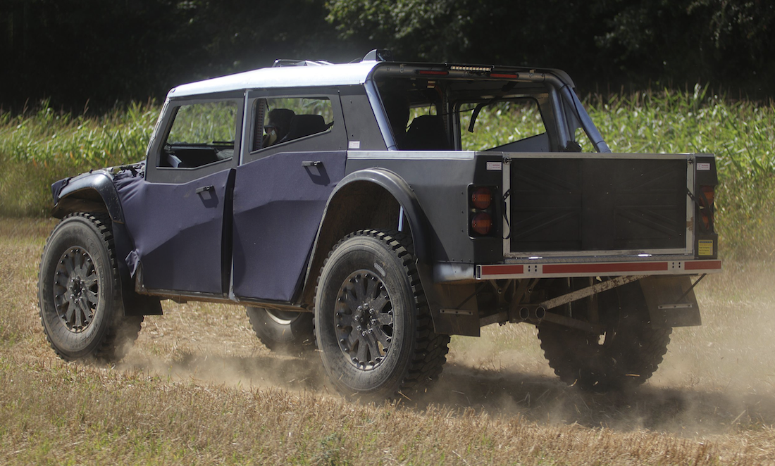 Yay or Nay to This Fabric-Sided, Biodiesel-Electric Hybrid Off-Road Truck?