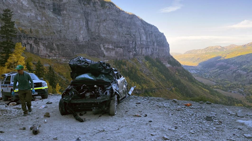 Ford Bronco Sport takes a tumble down CO's Black Bear Pass